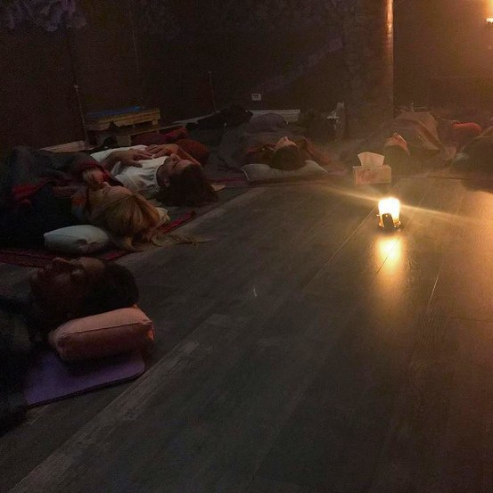 Breathwork and meditation class held in Melbourne VIC.
